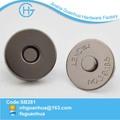 slim preto níquel metal carteiras snap botões botão de imã de geladeira