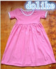 Wholesale baby girl cotton dress, high quality solid girls dresses