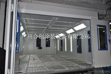 European design full down draft auto spraying bake paint booth with Italy REILLO diesel burner