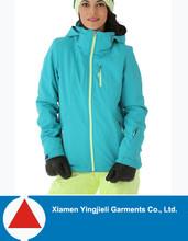 High quality crane sportwear 100% polyester waterproof softshell jacket lined fleece for women