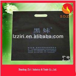 Fashionable d cut promotional cheap logo shopping nonwoven bag