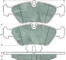 ceramic brake pads for BMW/BENZ/TOYOTA