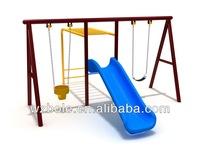 China New Product Kids Outdoor Playground Equipment Plastic Slide Swing Set Kids Metal Swing Set