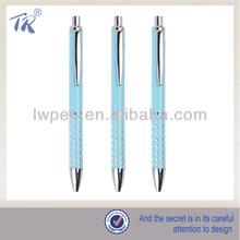 Newly Design Light Blue Metal Ballpoint Pen