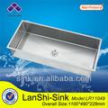 Lr11049 chinese18ga-16ga 304 pia de aço inoxidável escovado acabamento acetinado