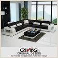 Atacado de móveis usados, mobiliário francês foshan, creme de sofás de couro conjunto
