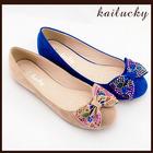 2014 Hot Sale Colorful Diamond Ballet Flat Wholesale Ladies Shoes