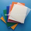 Color ampliamente Pp corrugado láminas de plástico