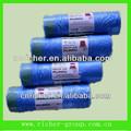 polietileno de alta densidad bolsas de basura en el rodillo con el sello de papel hecho en china