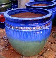Outdoor glazed pottery - Outdor clay planters - Ceramic flower pots - Garden plant pot: