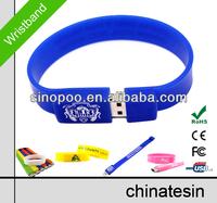 Hot Promotional Bracelet USB Disk , Wristband Flash Drive , Free Sample