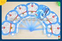 hot sale blue Douraeman small plastic custom folding fan
