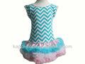 Summer kids Chevron girl baby dress,petti skirt baby clothing boutique