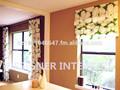 de calidad superior preciosa casa de campo floral cortinas con pizca pliegues y persianas romanas