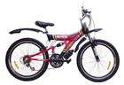 2015 hot sale 26 inch 21 speed full suspension hi-ten steel mountain bike made in China