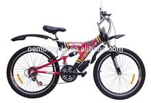 2015 hot sale 26 inch 21 speed full suspension hi-ten steel mountain bike made in China