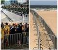 Metal used crowd control barriers,pedestrian barricades
