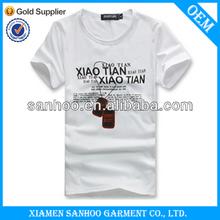Men Custom Best Quality Printing O Neck Cotton Tee Shirts Tight Fit Cheap