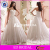 XL575 New Fashion Design Sleeveless Lace Sexy Open Back Puffy Skirt Wedding Gown