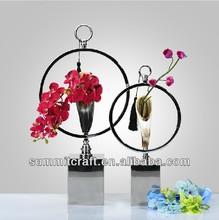 Polyresin artificial ox horn decoration wedding centerpieces