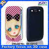 Custom design wallet cover for samsung galaxy s3 cases
