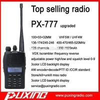 two way radio PX-777pluss ANI encode and decode PTT ID CCIR standard 5 tone kill and unkill miss CE FCC radio
