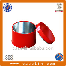 Manufacturer beautiful red small round candy metal case