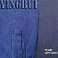 Yr-843 4.5 100 oz dril de algodón de algodón al por mayor de tela para la camisa