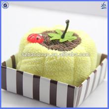 wholesale cake towel gifts/birthday towel cake souvenir