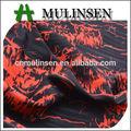 mulinsen têxtil tarja impressa poliéster stretch cetim vestido livre amostras de tecido