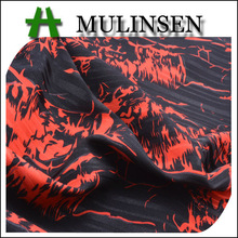 Mulinsen Textile Stripe Printed Polyester Stretch Satin Free Dress Fabric Samples