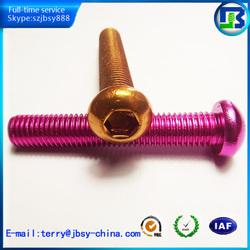 The cap head aluminum screws,anodize screw,china supplier