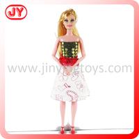 DIY fabric painting designs dresses doll