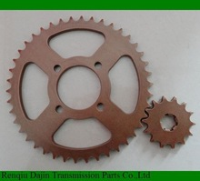 Dajin 1045 steel sprocket motorcycle/motorcycle parts chain sprocket/suzuki ax100 parts