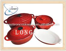 Hot Design Red Enamel Cast Iron Cookware Sets