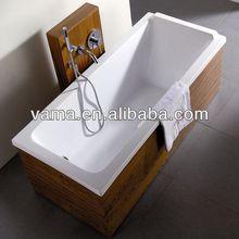 best quality modern thai teak wood veneer bathroom renew wooden veneer spa bathtub