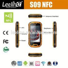 S09 NFC PTT travel cell phone italy travel,waterproof Smartphone android IP68 Waterproof Dustproof Shockproof