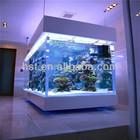 2014 High Quality 100% Lucite Material Small Acrylic aquarium tank price