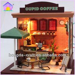 Wooden DIY Mini Coffee Shop Design Western Style Coffe House