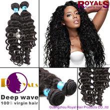 2014 Hot sale unprocessed One Donor 100% Virgin Brazilian Deep Wave Hair,no tangle no shedding cheap Brazilian hair bundles