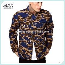 2015 Latest 100% Cotton Twill Bestseller Men Allover Printing Patterned Jacket & Coat Camoflage Pattern Men Jacket & Coat