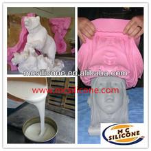 liquid 2 parts silicone rubber for concrete statue mold making