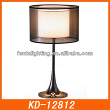 Different shape bedroom lamp shades KD-12812,ON/OFF switch table lamp,modern lamp for house interior decoration