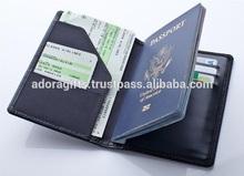 Passport Leather Case / custom promotion gift travel passport case / traditional style wholesale passport holder