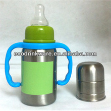 120ML stainless steel signle wall baby feeding bottle