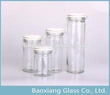 Ceramic Lid glass airtight storage jar glass bottle