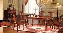 fashion antique wood design dining set