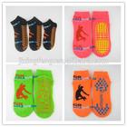 solid black anti slip yoga or trampoline socks