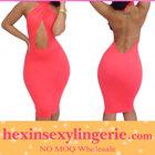 New sexy women plus size fashion cheap red summer bandage dress
