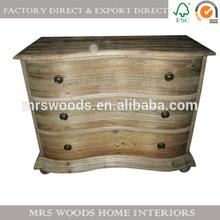 curved front dresser